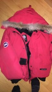 CANADA GOOSE RED CHILLIWACK BOMBER SZ L.. 100% AUTHENTIC!!