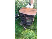 wood burner, solid cast iron, needs TLC