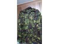 Men's military camouflage smock combat jacket.