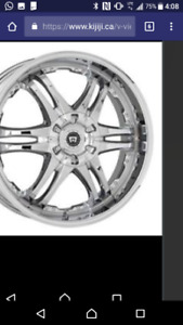 4 Motegi DP12 alloy rims chrome 17 inch 4 bolt pattern. Comes wi