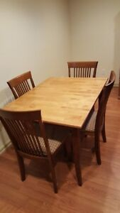 Solid Wood Kitchen Table and Chair Set