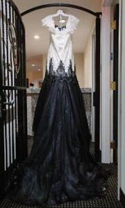 MAGGIE SOTTERO WEDDING DRESS Black and ivory