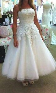 Wedding Dress for Sale- Justin Alexander 8465 Size 16 Tea Length