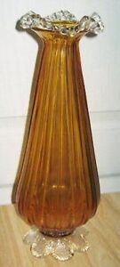 Ancien Vase / Vintage Footed Vase Saint-Hyacinthe Québec image 1