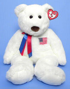 Libearty the USA Bear Ty Beanie Buddy - Large Size (21 inches)