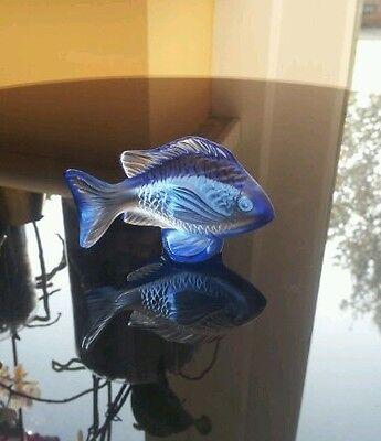 Blue Crystal Lalique Damsel fish BNIB ( Retired )
