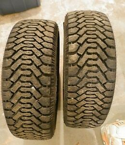 2 Goodyear Nordics M+S P225/60R16 Tires