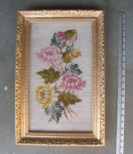 Needlepoint Picture of Flowers