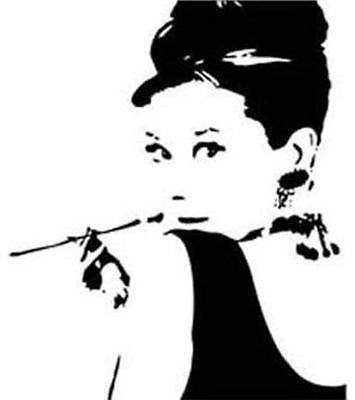 Audrey Hepburn Silhouettes Large Vinyl Wall Decoral Sticker tobacco pipe on Rummage
