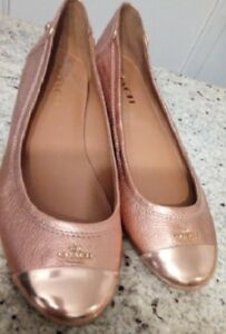 For Sale Coach Rose Gold Woman Ballet flats Size 9 $60.00