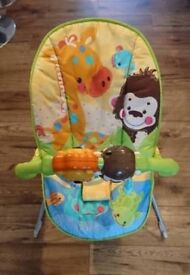 Fisher-Price Animals of the World vibrating and musical baby bouncer/chair