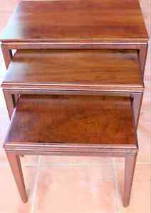 Set of three solid wood nesting tables South Perth South Perth Area Preview