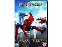 Spiderman homecoming/Emoji movie/Captain underpants dvds