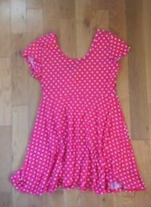 Pink polka dotted dress - Size XL