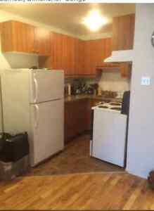 3 1/2 rénové, eau-chaude, cuisinière et réfrigérateur inclus.
