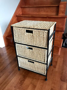 Wicker/Rattan drawers. Great for an End Table or Night Stand.