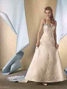 Size 10 claret trimmed Alfred Angelo wedding gown Mawson Woden Valley Preview