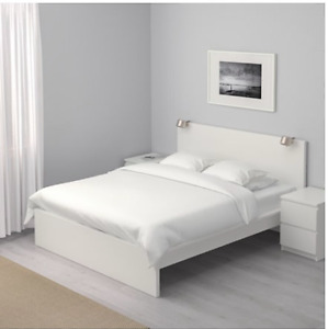IKEA MALM Queen Bed with 4 Storage Drawers Below
