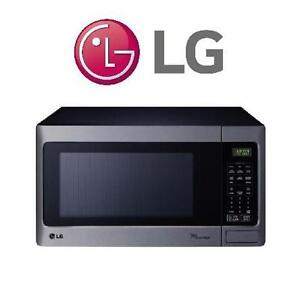 NEW LG 1.5 CU.FT. MICROWAVE LG Countertop Microwave - 1.5 Cu. Ft. - Stainless Steel 107547290