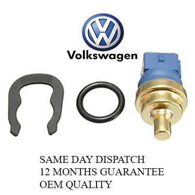 VW Audi Water Coolant Temperature Gauge Sensor 059919501 Temp Sender Clip O ring
