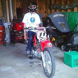 2005 Honda crf 100 w ownership for sled