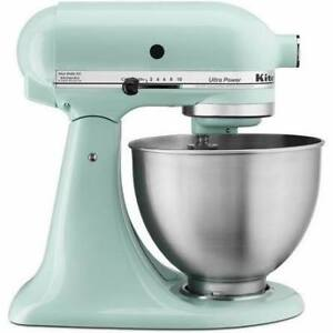 Kitchen Aid Ultra Power Ice Blue Stand Mixer Mint Condition!