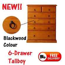 6 Drawer Tallboy Chest SOLID TIMBER - DELIVERED FREE New Farm Brisbane North East Preview