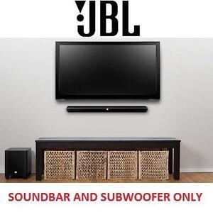 NEW JBL 2.1 HOME CINEMA SYSTEM - 125310647 - BLUETOOTH SOUNDBAR W/ WIRELESS SUBWOOFER