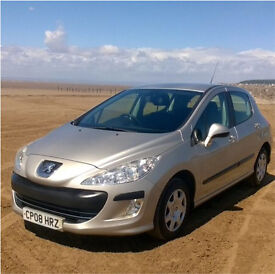 Excellent condition Champagne Metallic Peugeot 308 1.4 VTi S 5 door, a lovely looking car