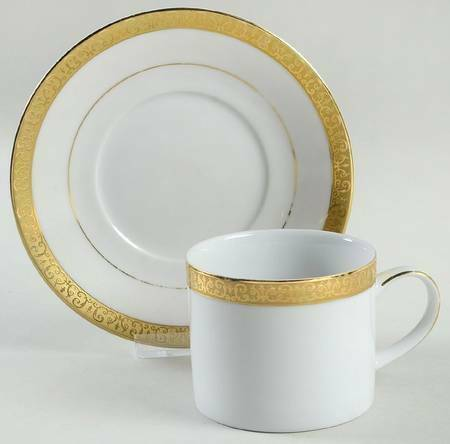 Royal Gallery Gold Buffet Demitasse Cup And Saucer - $10.00