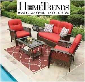 NEW* 3PC CONVERSATION SET LG6601-4PC 201662127 HOMETRENDS PATIO TUSCANY SCARLET RED