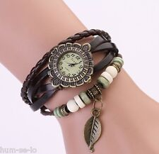VINTAGE BRACELET WOMEN WRIST WATCH - BROWN