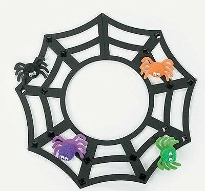 Spider Crafts For Halloween (12 Spiderweb Necklace Foam Craft Kit Halloween Spider Great For)