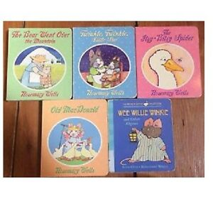 "Set of ROSEMARY WELLS ""READ TO YOUR BUNNY"" board books"