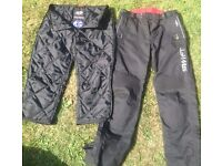 Unisex Textile Motorcycle Trousers / CE Knee Protectors / Size - Medium/ As new