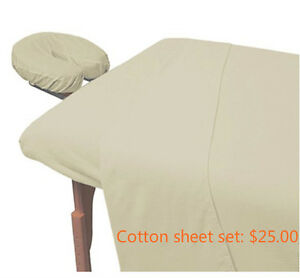 Ensemble de sheet set pour talbe de massage