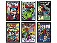 Marvel Superheroes - Portfolio of 6 boxed canvas all Signed by Stan Lee