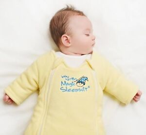 Brand new baby Yellow Cotton Magic Sleepsuit