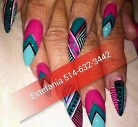 POSE D'ONGLES ACRYLIC,GEL,SHELLAC,RESINE,PEDICURE ECT