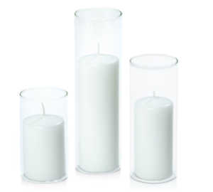 Event/ Wedding Glass Candle Pillar Set of 3 Chermside Brisbane North East Preview