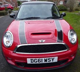 Mini Cooper S 1.6 Hatchback, Chilli Pack, 61 Plate - One Owner From New - Full Mini Service History