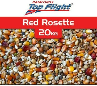 Pigeon Food Seed Red Rosette Bamfords Top Flight 20kg Racing Pigeons BMFD DS