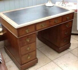 lovely small Victorian pedestal desk