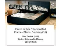 Black double Ottoman bed & quality mattress