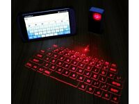 Bluetooth laser keyboard(can be linked to smart phone, tablet)