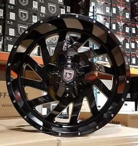 20x12 GLOSS BLACK WHEELS! Directional W/ HUGE LIP! Financing  Available Chevrolet
