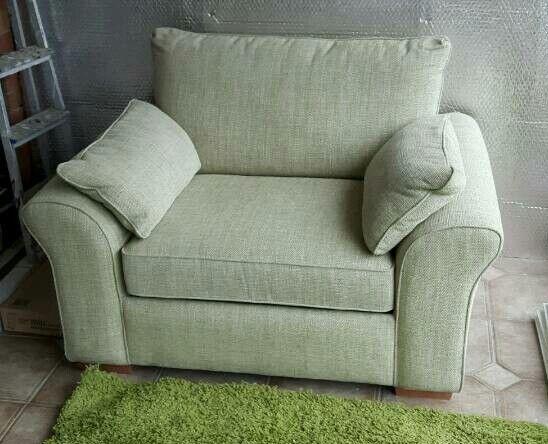 Large light green single chair