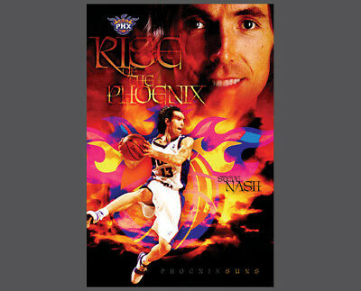 Steve Nash RISE OF THE PHOENIX Rare 2005 Phoenix Suns Original NBA Wall (Origin Of The Phoenix)