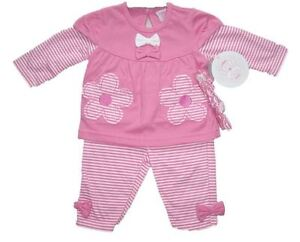 Baby Girls 3 Piece Set Outfit Long Sleeved Top, Pants & Headband