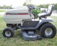 White lawn tractor-SOLD PENDING P/U